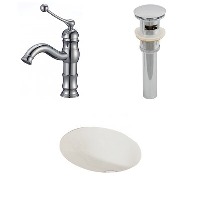 """Ceramic 20"""" Wall Mount Bathroom Sink with Faucet and Overflow"""