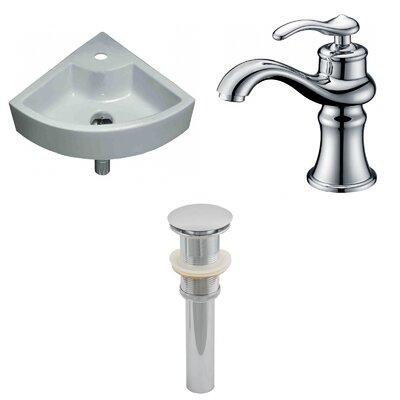Specialty Ceramic Specialty Vessel Bathroom Sink with Faucet