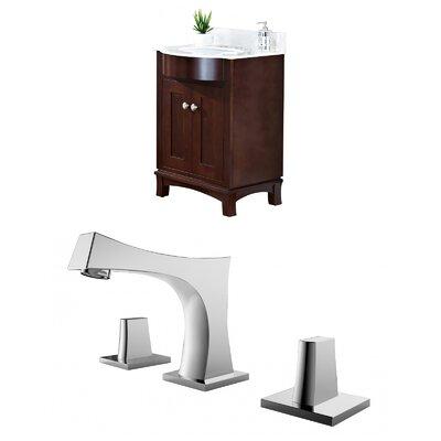 "Kester Transitional 24"" Multi-layer Stain Single Bathroom Vanity Set Sink Finish: White"