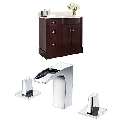"Kester 36"" Single Bathroom Vanity Set with Stone Top Sink Finish: Biscuit"