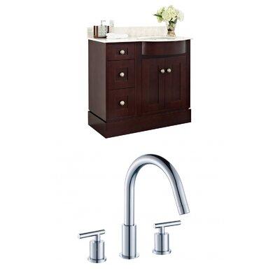 "Kester Transitional 36"" Wood Single Bathroom Vanity Set Sink Finish: White"