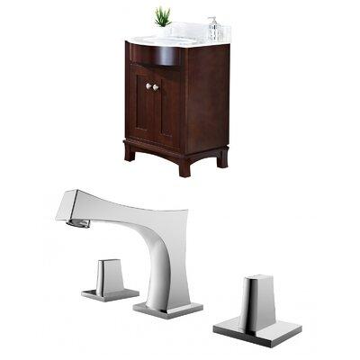 "Kester Transitional 24"" Multi-layer Stain Single Bathroom Vanity Set Sink Finish: Biscuit"