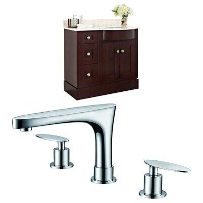 "Kester Transitional 36"" Single Bathroom Vanity Set Sink Finish: White"