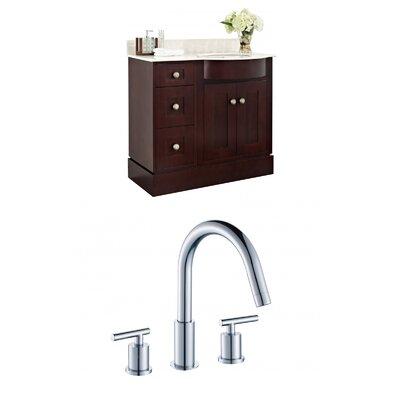 """Kester Transitional 36"""" Wood Single Bathroom Vanity Set Sink Finish: Biscuit"""