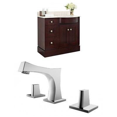 """Kester 36"""" Wood Single Bathroom Vanity Set Sink Finish: Biscuit"""
