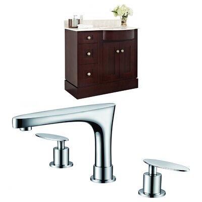 """Kester Transitional 36"""" Single Bathroom Vanity Set Sink Finish: Biscuit"""