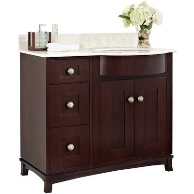"Kester 36"" Rectangle Bathroom Vanity Top Finish: White, Faucet Mount: Single"