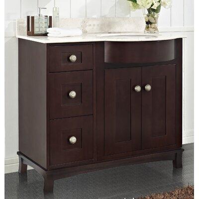"Kester 36"" Rectangle Bathroom Vanity Top Finish: White, Faucet Mount: 8"" Center"