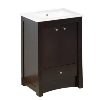"Transitional 32"" Single Bathroom Vanity Set Faucet Mount: 8"" Off Center, Hardware Finish: Chrome"