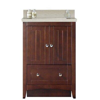"""Artic 24"""" Rectangle Single Bathroom Vanity Set Base Finish: White, Sink Finish: White, Faucet Mount: Single Hole"""