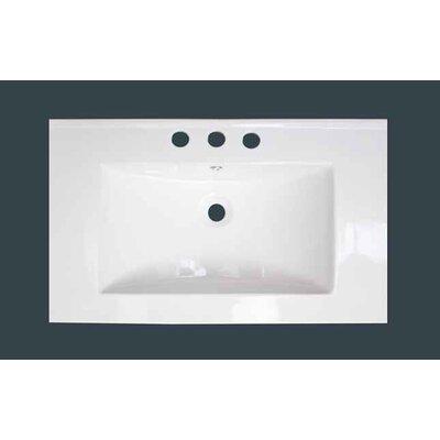 "3 Hole Ceramic 32"" Single Bathroom Vanity Top"