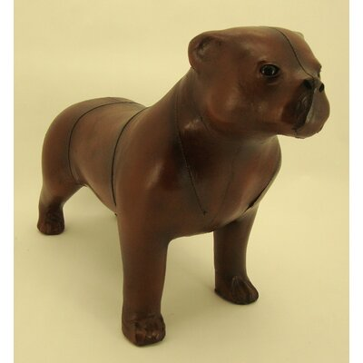 Blackbrook Leather Staffordshire Bull Terrier Dog Footstool