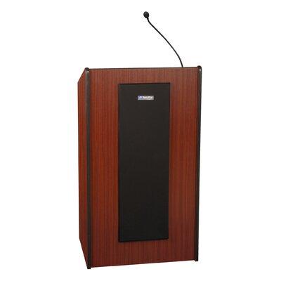 Presidential Plus Lectern Finish: Mahogany, Wireless Mic Option: None, Sound: Non-Sound