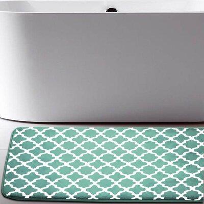 Osmond Flannel Memory Foam Bath Rug Color: Green