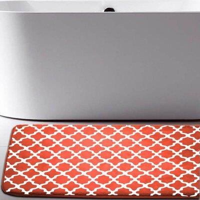 Osmond Flannel Memory Foam Bath Rug Color: Orange