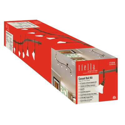 Tiella 5 Light Casual Rail 5 Head Full Track Lighting Kit