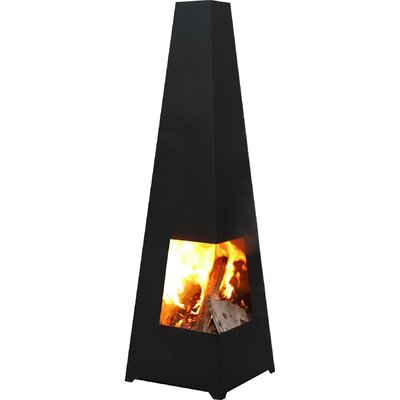 GardenMaxX Chacana Steel Wood Outdoor Fireplace
