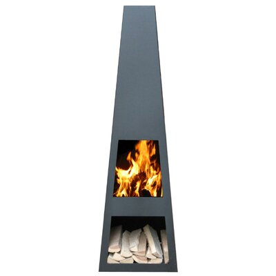 GardenMaxX Vilos Steel Wood Chiminea