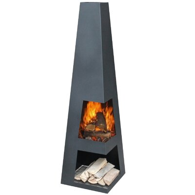 GardenMaxX Sanga Steel Wood Chiminea