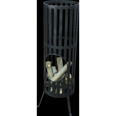 GardenMaxX Steel Wood Outdoor Fire Column