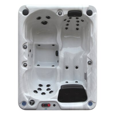 Quebec 4-Person 29-Jet Plug and Play Spa with Waterfall