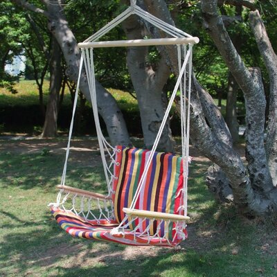 Hanging Suspended Chair Hammock Color: Antigua Red