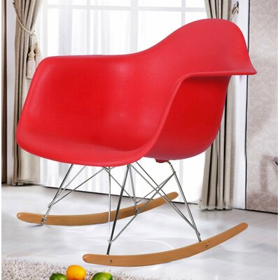 Rocking Dining Arm Chair Color: Red