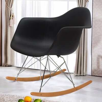 Rocking Dining Arm Chair Color: Black