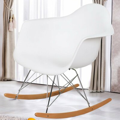 Rocking Dining Arm Chair Color: White