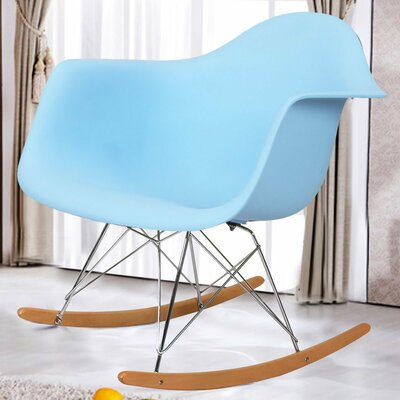 Rocking Dining Arm Chair Color: Light Blue