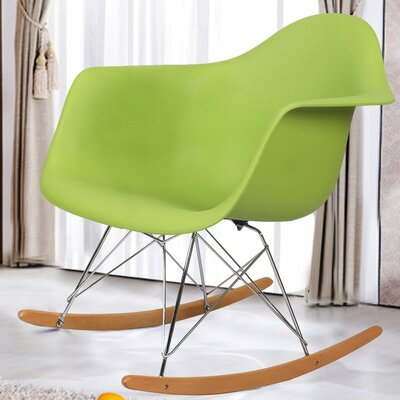 Rocking Dining Arm Chair Color: Green