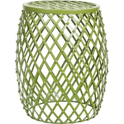 Tatjana Home Garden Accent Wire Round Stool Finish: Green