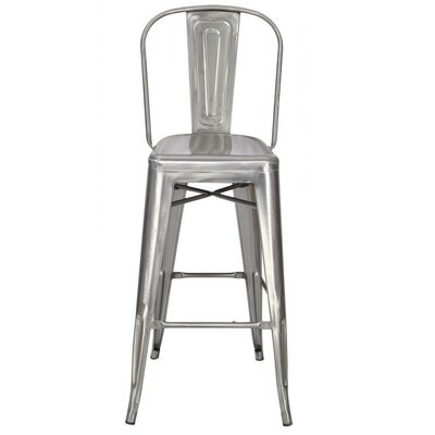 "30"" Bar Stool Finish: Gunmetal"