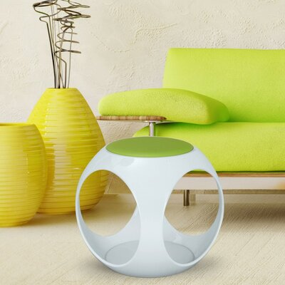 Contemporary Foam Upholstered Stool Color: Green