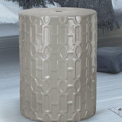 Modern Drum Ceramic Garden Stool Finish: Gray