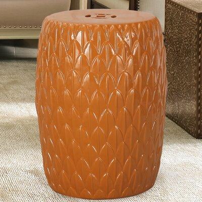 Lotus Petals Ceramic Garden Stool Finish: Orange