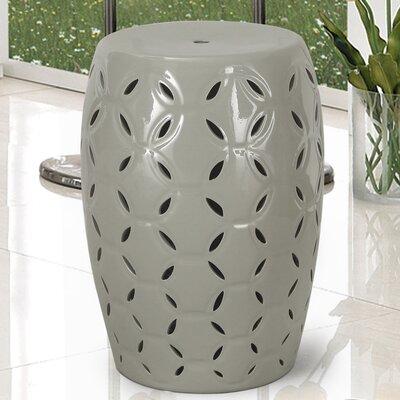Lattice Ceramic Garden Stool Finish: Gray