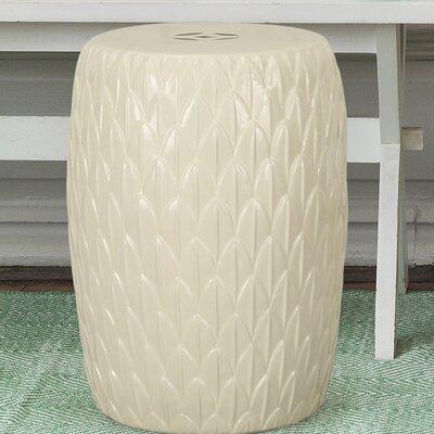 Lotus Petals Ceramic Garden Stool Finish: Cream White