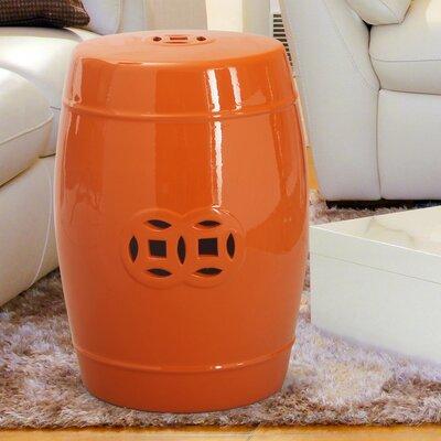 Modern Drum Ceramic Garden Stool Finish: Red