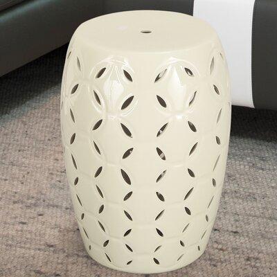 Lattice Ceramic Garden Stool Finish: White