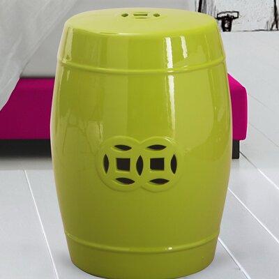 Modern Drum Ceramic Garden Stool Finish: Lime