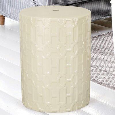 Modern Drum Ceramic Garden Stool Finish: White