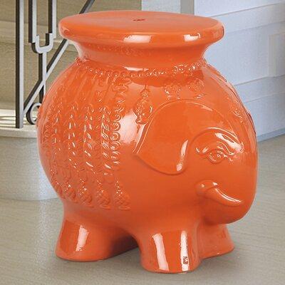 Lucky Elephant Ceramic Garden Stool Finish: Red