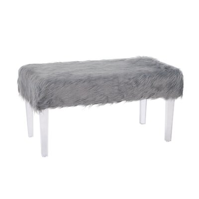 Shaftesbury Bench Upholstery: Gray