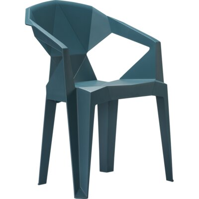 Stacking Chair Frame Finish: Teal Blue