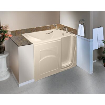 """Navigator 54"""" x 30"""" Whirlpool Jetted Walk-In Bathtub Finish: Biscuit, Drain Location: Right Side"""