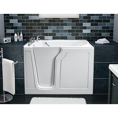 """Dignity 48"""" x 28"""" Air Jetted Walk-In Bathtub Finish: White, Drain Location: Left Side"""