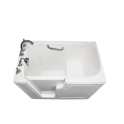 "Dignity 48"" x 28"" Soaking Walk-ln Bathtub Finish: White, Drain Location: Left Side"