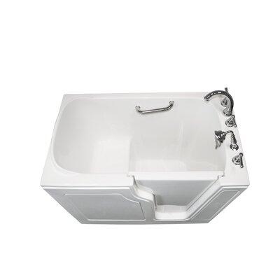 "Dignity 48"" x 28"" Soaking Walk-ln Bathtub Finish: White, Drain Location: Right Side"