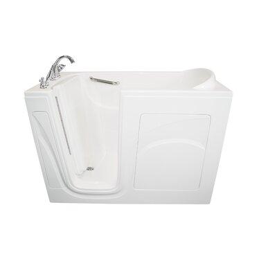 "Navigator 54"" x 30"" Air Jetted Walk-In Bathtub Finish: White, Drain Location: Left Side"